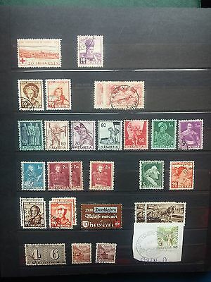 G951. Suisse. Helvetia. Lot Timbres Obliteres