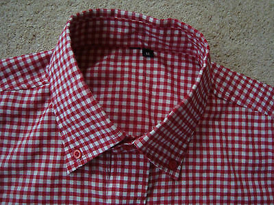 Vintage Mod Skinhead Check Button Down Shirt. Medium. DEADSTOCK - Free UK Post