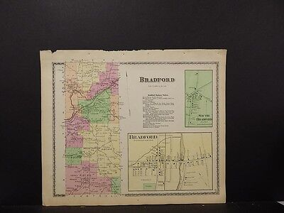 New York, Steuben County Map, 1873, Town of Bradford, O6#63