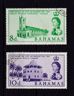Bahamas #178-179 Used Centenary Of The City Of Nassau