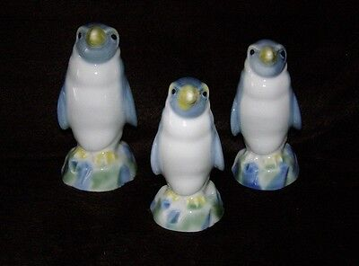 Full Set of Wade Penguin Family Decanters with Stoppers