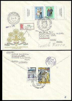 Clothing culture,National Costumes,Hungary 1981 REG FDC,Cover to Korea 2