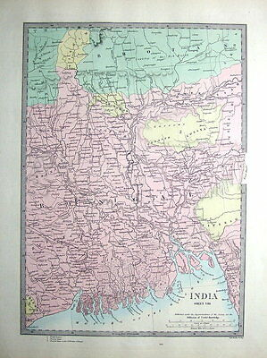 INDIA, BENGAL PRESIDENCY, MOUTH OF THE GANGES  SDUK  Antique Map 1857