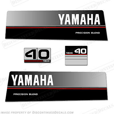Yamaha 1986-1989 40hp Outboard Decal Kit - Decal Reproductions in Stock!