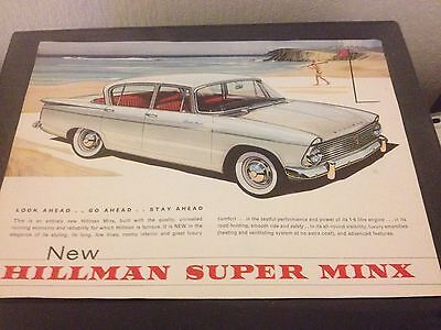 hillman super minx specification rootes leaflet
