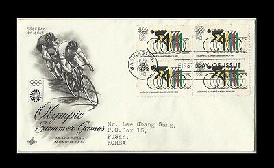 Sports,Cycling,Bike,Olympics,United States,US 1972 FDC,Cover