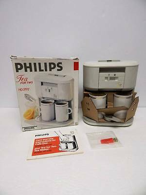 NOS Philips Tea for Two HD 5192 Brewer Maker Open Box New Vintage Compact 2 Cups