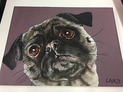 Pug Oil Painting K Laird