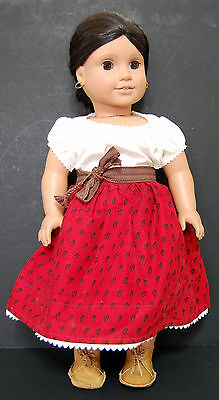 American Girl Josefina Doll Meet Outfit Pleasant Company Skirt Sash Shoes