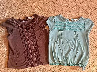 Pair of Old Navy Toddler Girls Shirts - Size 2T - Brown and Teal