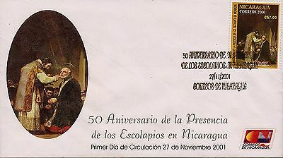 NICARAGUA ORDER of PIARISTS Sc 2378 FDC 2001
