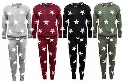 New Kids Girls Stars Print 2 Piece Lounge Set Tracksuit Jogging Suit 5-13 Years