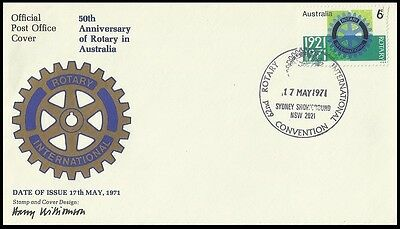 Rotary International,Australia 1971 FDC,Cover