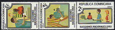 DOMINICAN NATL. ELECTIONS Sc 855-7 MNH 1982