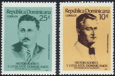 DOMINICAN HISTORIANS and AUTHORS Sc 1008-9 MNH 1987