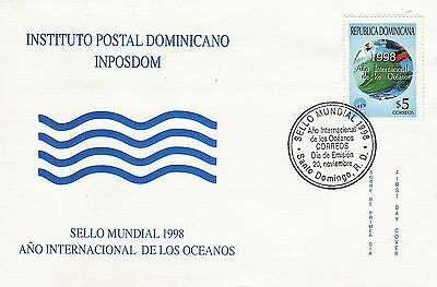 DOMINICAN INTL YEAR of the OCEAN Sc 1292 FDC 1998