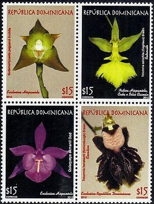 Dominican Orchids National Flora Block of 4 Sc 1530 MNH 2012