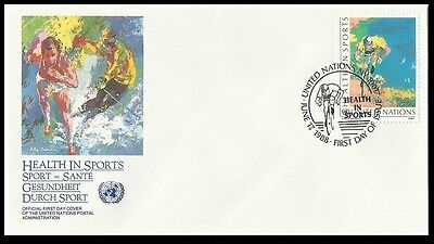 Bike,Cycling,Health in Sports,UN 1988 FDC,Cover