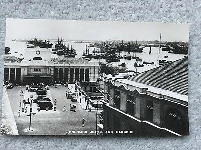 Ceylon Old Postcard Colombo Jetty And Harbour