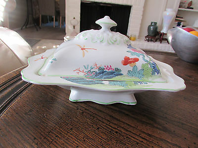 Wood & Sons Dragonfly & Peony covered dish