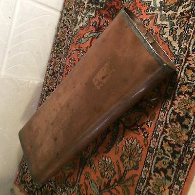 Antique  Carriage. Foot Warmer.  Copper.  And. Brass