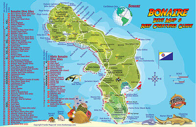 Bonaire Dive Map & Reef Creatures Guide Laminated Fish Card by Franko Maps