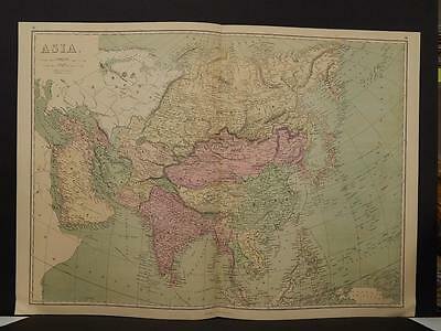Antique Map, 1873, Asia, Double Page, R4#13