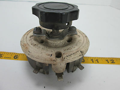 Vintage Ohmite MFG Co. Rheostat Spec 398524 Ohms 15 Amps 3.16 Ceramic Top T