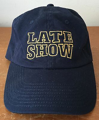 Exc. Orig Late Show David Letterman Worldwide Pants Baseball Cap Top Condition!