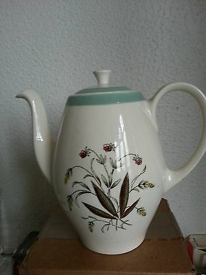 """Vintage Alfred Meakin 'Hedgerow' Teapot – Approx 17cm/6-3/4"""" High"""