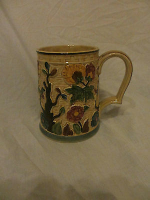 H J Wood Indian Tree Tankard, Hand Painted Good Condition