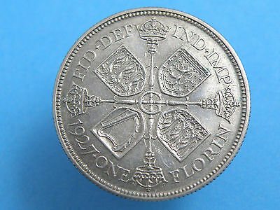 1927 King George V SILVER FLORIN TWO SHILLING COIN - PROOF ISSUE - SCARCE