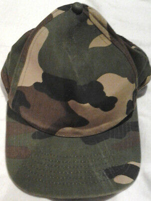 Marks and Spencer Green Camouflage Baseball Cap One Size, Used (No Labels)