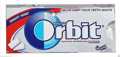 WRIGLEYS Orbit Sweet Mint Flavoured Gum Sugar Free 30 STRIPS 5 Pcs in One Box