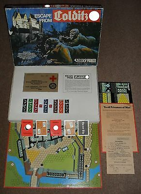 Escape From Colditz Board Game Parker 1970s COMPLETE VGC RARE 4