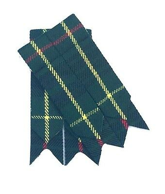 Scottish Kilt Sock Flashes Hunting Stewart Tartan/Kilt Hose flashes/kilt flashes
