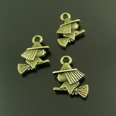 **37904 Antique Style Bronze Tone Allloy Witch Charm Pendant Finding Hot 20pcs