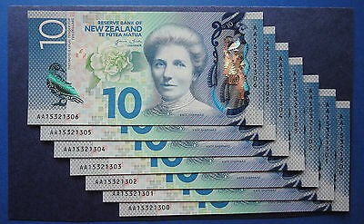2015 AA prefix UNC $10  New Zealand note - Latest issue & Design
