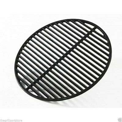 """Big Green Egg Charcoal Grill Cast Iron Coated Dual Sided Cooking Grate 18 3/16"""""""