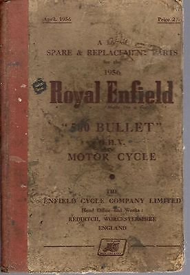 Spare Parts List Royal Enfield 500 Bullet OHV Motor Cycle 1956 H/B 27520