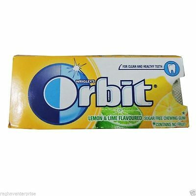 WRIGLEYS Orbit Lemon & Lime Flavoured Gum Sugar Free 30 STRIPS 5 Pcs in One Box