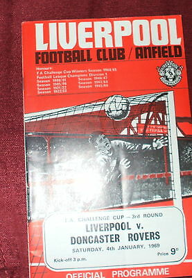 Liverpool V Doncaster Rovers Fa Cup 4-1-69