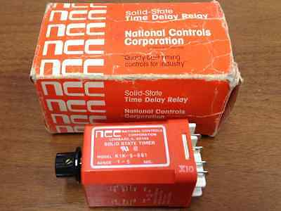 NCC - Model #K1K-5-661 - Solid State Time Delay Relay - NEW