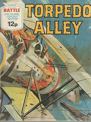 1978  No 1186 38556 Battle Picture Library  TORPEDO ALLEY