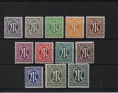 set of 12 mint early germany stamps
