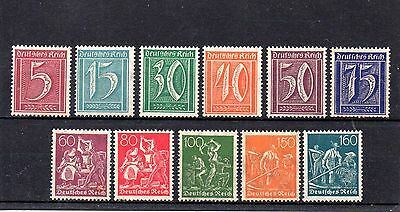 set of 11 early mint germany stamps 1921