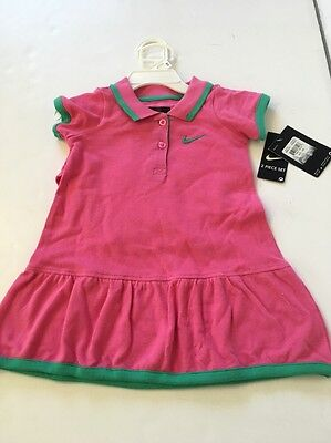 NIKE Girls Pink 2 Piece Polo Dress - Sz 24 Months New With Tags