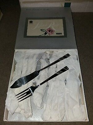 viners 6 fish knives and fork set