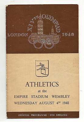 Orig.PRG   XIV.Olympic Games LONDON 1948 // ATHLETICS 04.08. / 5 Final`s !! RARE