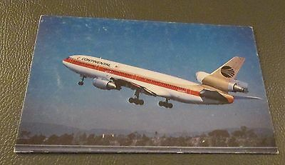 Commercial Jet Aircraft- Postcard --CONTINENTAL AIRLINES---DC-10